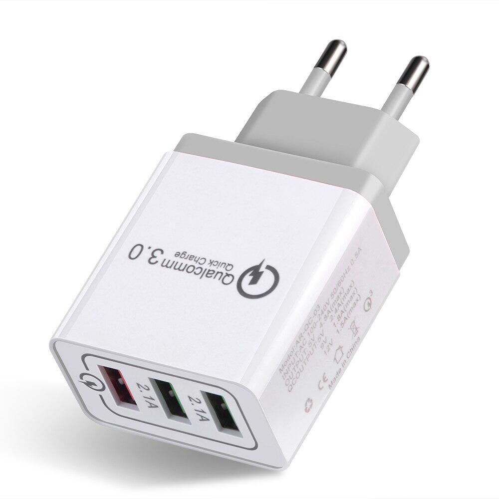 BAKEEY 3usb штепсельная вилка европейского стандарта QC3.0 для быстрой зарядки портативное зарядное устройство для путешествий адаптер питания д...