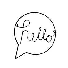 1 шт. в скандинавском стиле, железная вывеска Hello, настенные подвесные украшения, художественный декор, прихожая, знак приветствия, настенное искусство для украшения дома, офиса, кафе