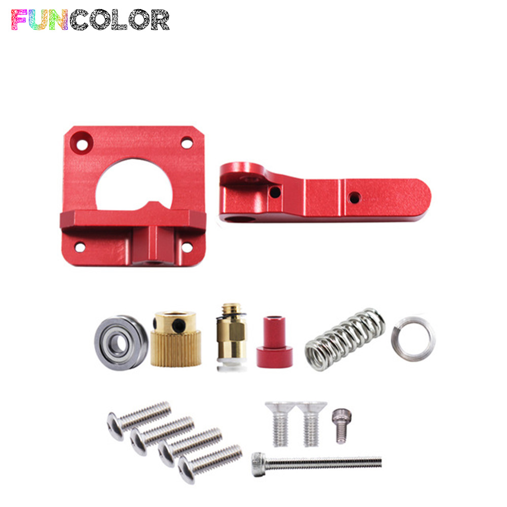 MK8 Extruder Aluminum Block Bowden 3D Printer Parts 1.75mm Filament Reprap for CR-7 CR-8 CR-10 Accessories