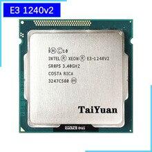 إنتل زيون E3 1240 v2 E3 1240v2 E3 1240 v2 3.4 GHz رباعية النواة معالج وحدة المعالجة المركزية 8M 69W LGA 1155