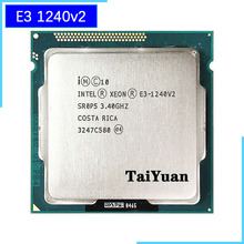 Intel Xeon E3 1240 v2 E3 1240v2 E3 1240 v2 3.4 GHz dört çekirdekli İşlemci İşlemci 8M 69W LGA 1155