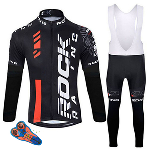 Image 1 - Rock 2019 Spring/Autumn Cycling Clothing Men Set Bike Clothing Breathable Anti UV Bicycle Wear/long Sleeve Cycling Jersey Sets