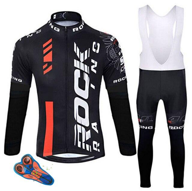 Мужской комплект одежды для велоспорта Rock, весна осень 2019, дышащая одежда для велоспорта с защитой от УФ лучей и длинным рукавом, комплекты из Джерси для велоспорта