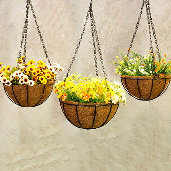 gunasai.me & Iron Hanging Basket Macrame Plant Hanger Flower/Pot Hanger Hanging Baskets For Plants Garden Decoration Balcony Decorations