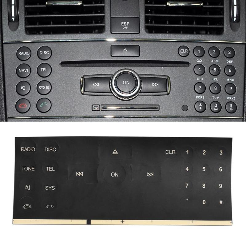 Radio Stereo Number Button Stickers Repair Decals Sticker Kit For Benz C/E/GLK/W Class 2007-2014