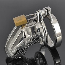 Top stainless steel exquisite pattern metal cock cage male chastity device cbt toys beauty