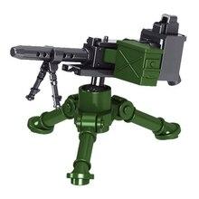 4 шт. Вторая мировая война Немецкая армия военные маленькие частицы строительные блоки части оружия головоломки игрушки для детей подарок на день рождения