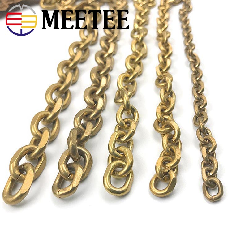 Fashion Solid Brass Wallet Chain Men Belt Pants Keychain Trousers Jeans Metal Bag Chain DIY Leather Crafts Accessories