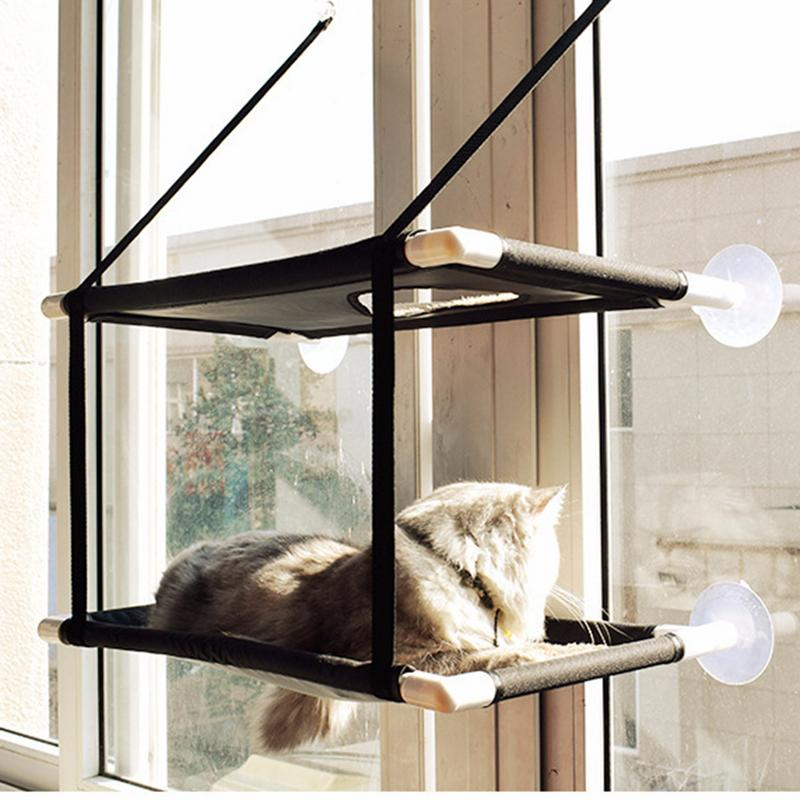 1ayer and 2 layers Suction Cat Hammock Cat Window Rack