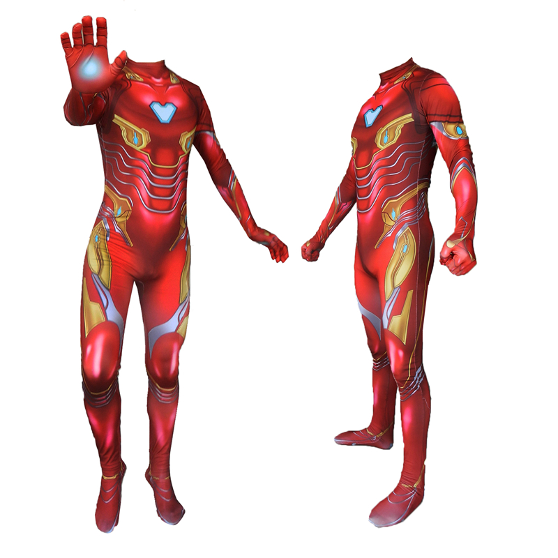 Iron Man Costume Adult Endgame Superhero Costume For Men Iron Man Cosplay Costume Halloween Costume For Adult Carnival Suit