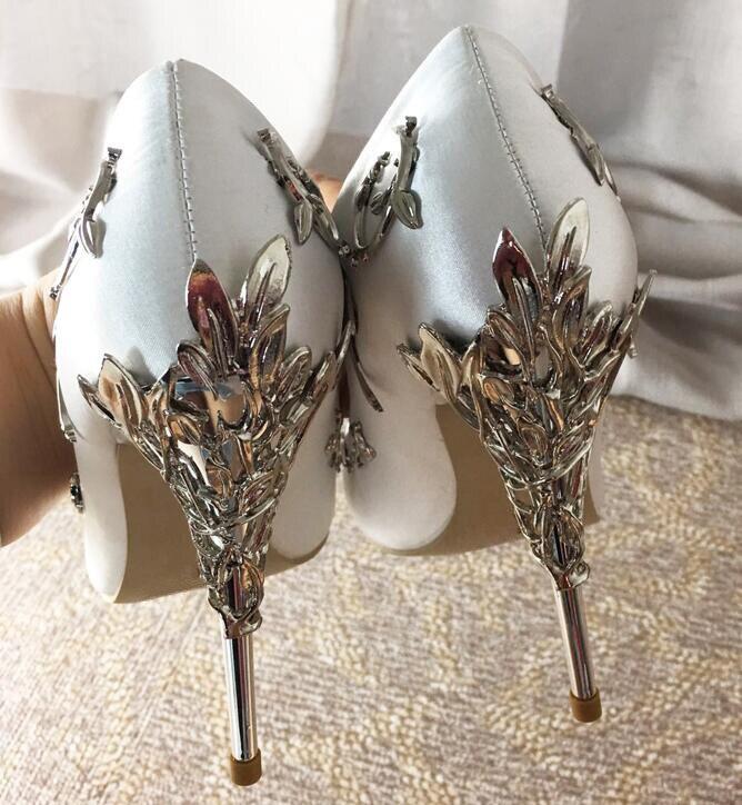 Rose Talons Fleur As Mode Chaussures Picture Bout Élégant Picture Sexy Femmes Métal Pompes Vigne as Pointu Stiletto Satin De Dames Mariage Talon bleu Hauts 2018 U5w1x7qw