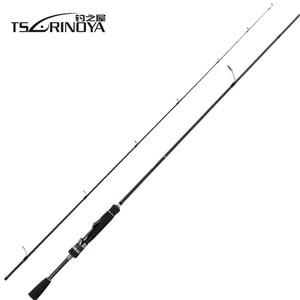 Image 5 - TSURINOYA MYSTERY II Lure Weight 2 7g Saltwater Fishing Rod 1.8M UL Tip FUJI Ring Seat Ultralight Carp Carbon Spinning Rod Pole