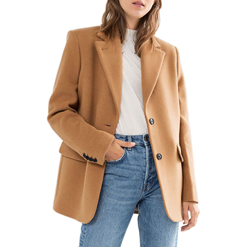 AEL Women s Woolen Coat Jacket Winter Fashion Tops Women High end Clothing Routine Casual Suit
