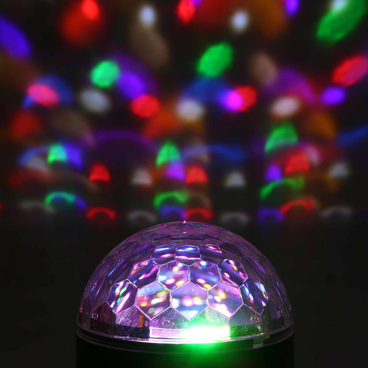 Sound Activated Rotating Disco Ball Party Lights Strobe Light 9W RGB LED Stage Lights For Christmas Home KTV Wedding Show Disco