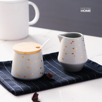 Nordic Ceramic Milk Jug Sugar Bowl Tank Set Home Cafe Coffee House Barista Creamer Pitcher Kahve Caffe Accessories Tools Jarro