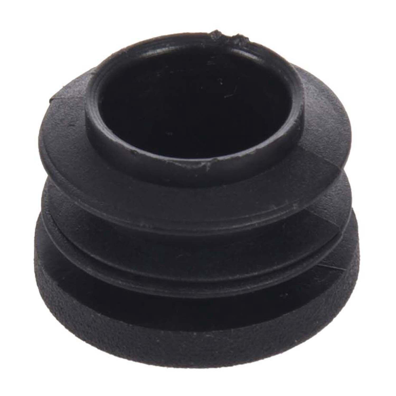Promotion! Black 15pcs 19mm Dia Round Plastic Blanking End Cap Tubing Tube Insert