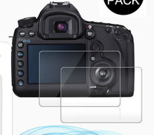 2Pack For Canon EOS 5D Mark IV / 5D Mark III 0.3mm 2.5D 9H Clear Tempered Glass Screen Protector for DSLR Camera LCD Skin Film