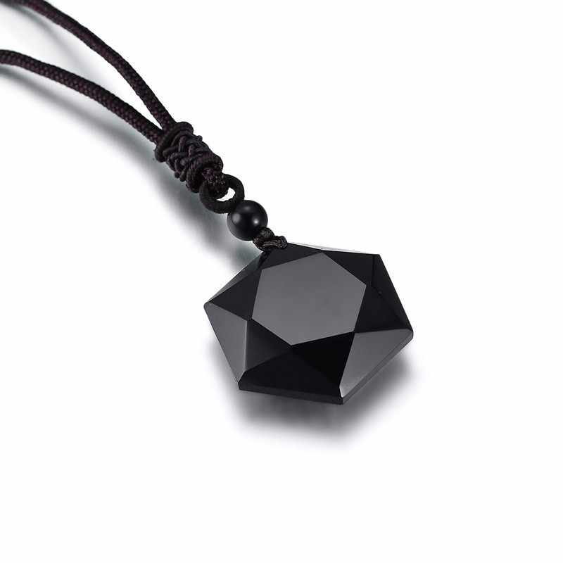 Vnox Đen Obsidian Mặt Dây Chuyền Vòng Cổ Ngôi Sao của RongDe May Mắn Tình Yêu Pha Lê Nam Choker Cổ Với Tự Do Chiều Dài Dây Có Thể Điều Chỉnh
