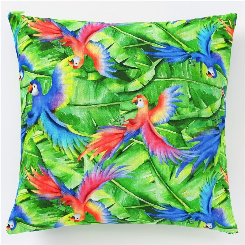 Decorative pillow case Ethel Parrot, 45x45 cm, репс, density 130g/m², cotton 100% decorative pillow case ethel triangles 45x45 cm репс pl 130g m² 100% cotton