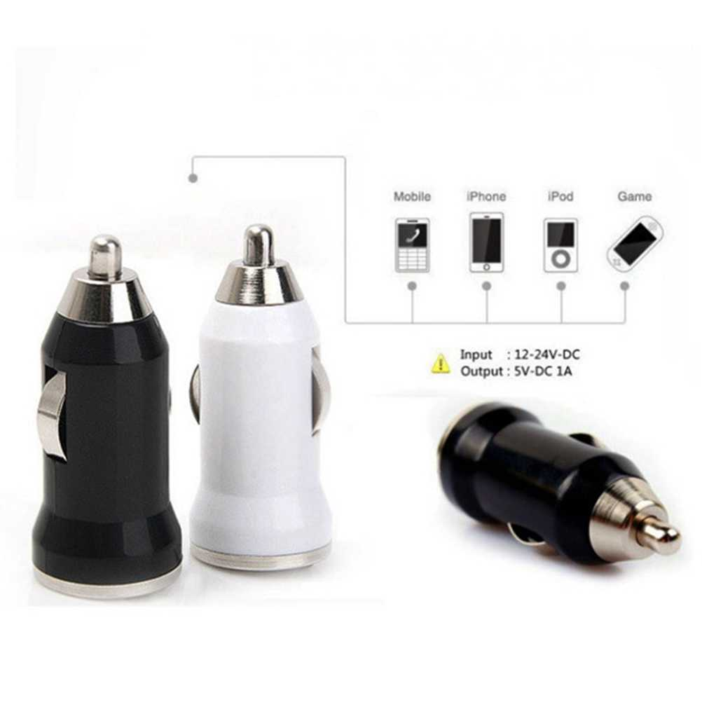 USB Car Charger Bullet Head USB Car Charger Fast Charge Universal Power Charging Adapter Socket For Iphone Andriod Xiaomi