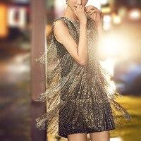 См. оранжевое Модное Элегантное облегающее платье с бисером и кисточками 2018 летнее платье женское вечернее платье Vestidos SO3350