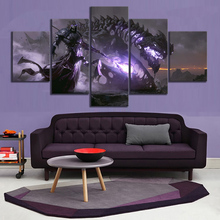 5 Piece Fantasy Art Grim Reaper and Skull Dragon Canvas Printed Wall Pictures Home Decor For Living Room Poster Wholesale