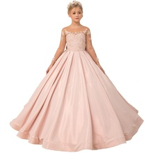 Pink Little Girls Pageant Dresses First Communion Kids Evening Ball Gowns Robe Mariage Enfant Fille Birthday Flower Girl Dresses bbwowlin baby girl dresses for 0 2 years little girls birthday christmas first communion 9088