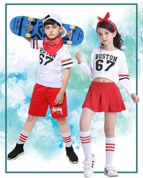 ead662b353b6d Los niños Hiphop baile danza moderna ropa traje de niña niño Jazz hip-hop  ropa