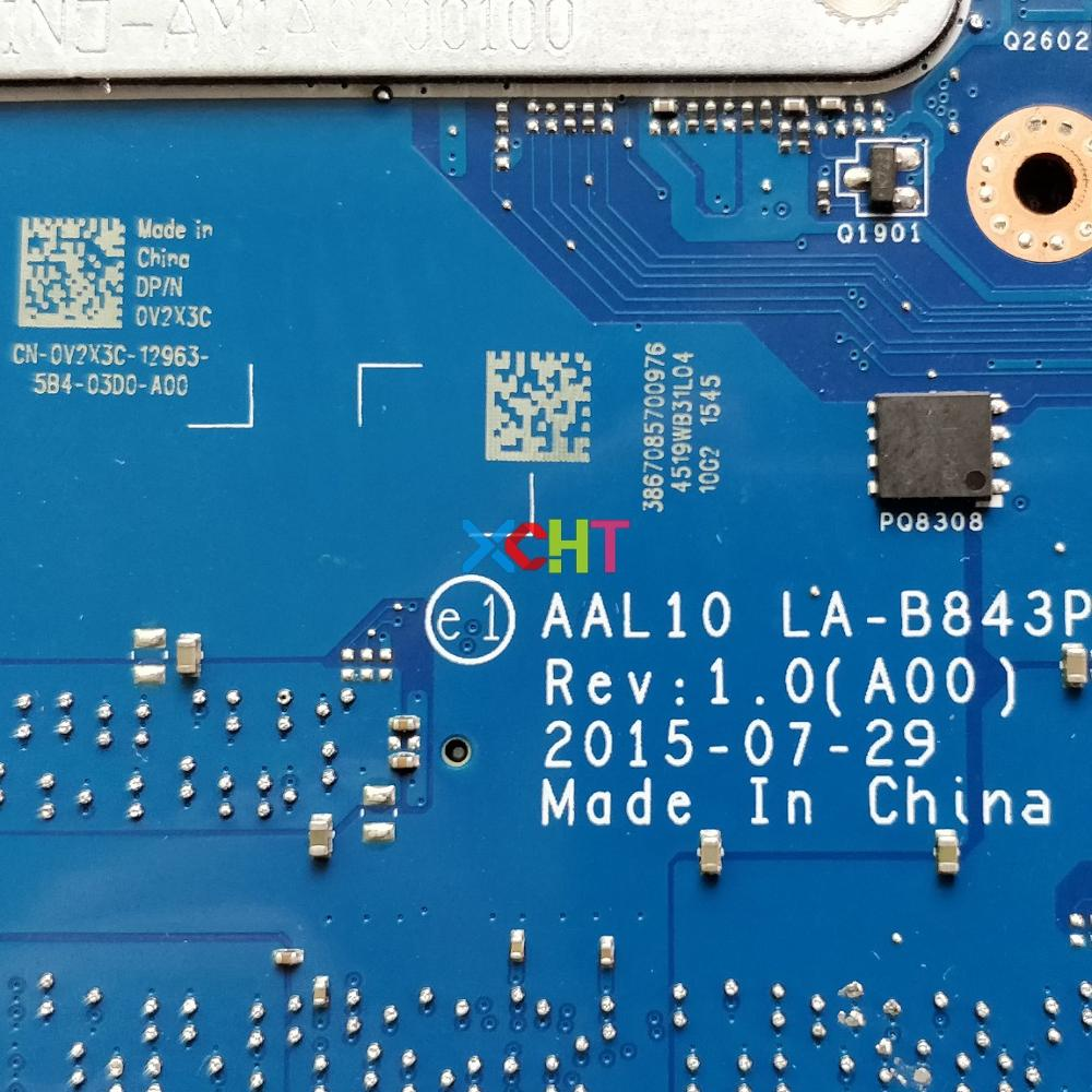 Image 5 - CN 0V2X3C 0V2X3C V2X3C AAL10 LA B843P w I7 5500U GT920M GPU for Dell Inspiron 5458 5558 5758 NoteBook Laptop Motherboard Tested-in Laptop Motherboard from Computer & Office