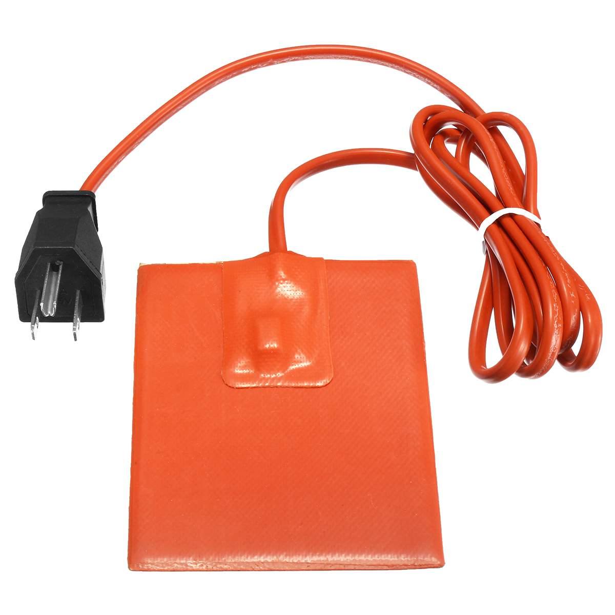 Car Engine Heater Pad Oil Tank Silicone Engine Block Hydraulic Tank Heating Plate Oil Pan Sump Tank Oil Heater Pad//Mat
