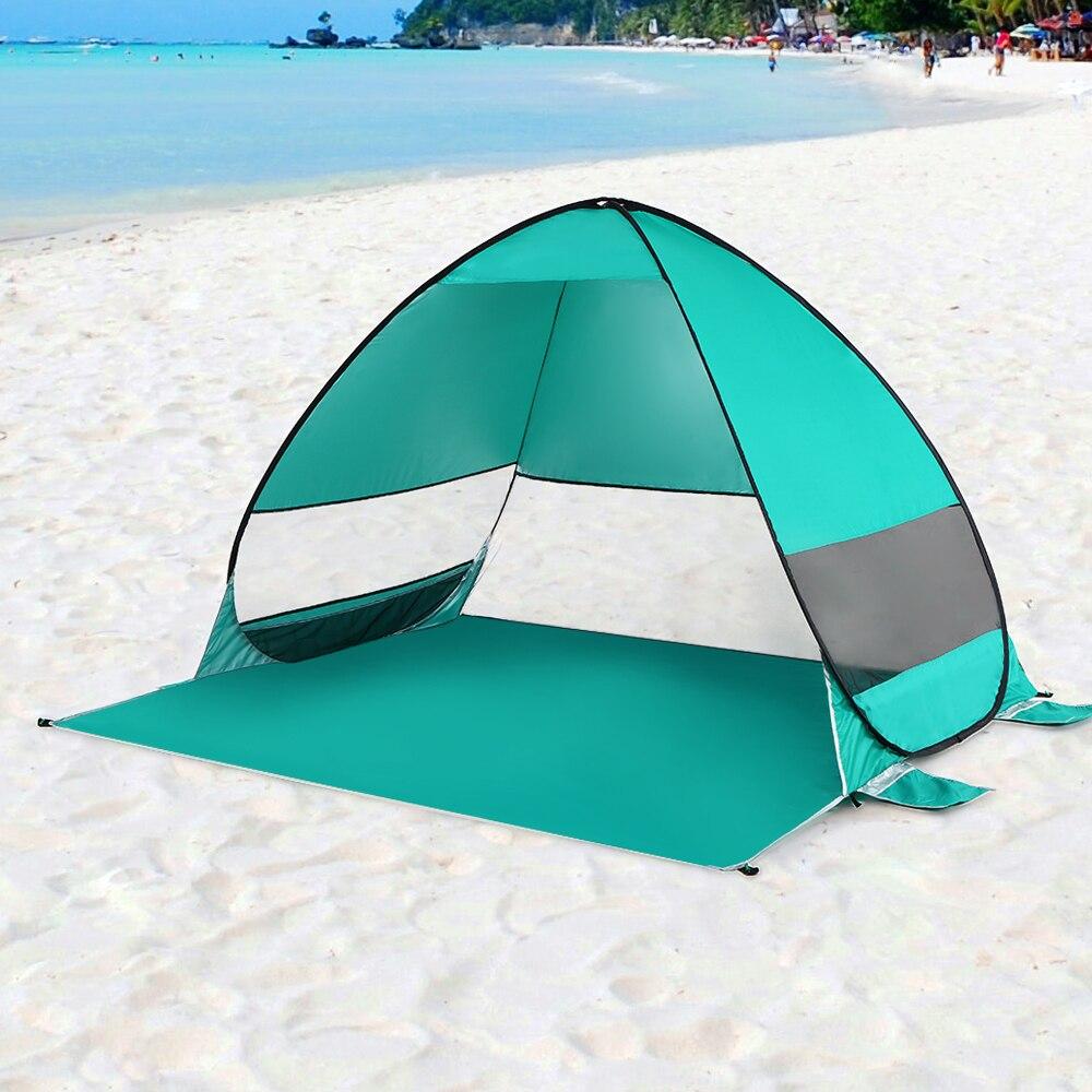 Oudoor Winddicht Automatische Pop Up Zelt Wasserdichte Ultraleicht Camping Zelt Baldachin Sonne Shelter Für Strand Camping Angeln Wandern