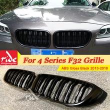 F32 Front Grille ABS Gloss Black For 2-Slats M-Style 420i 428i 430i 435i 440i 440ixD Bumper Kidney 2013+