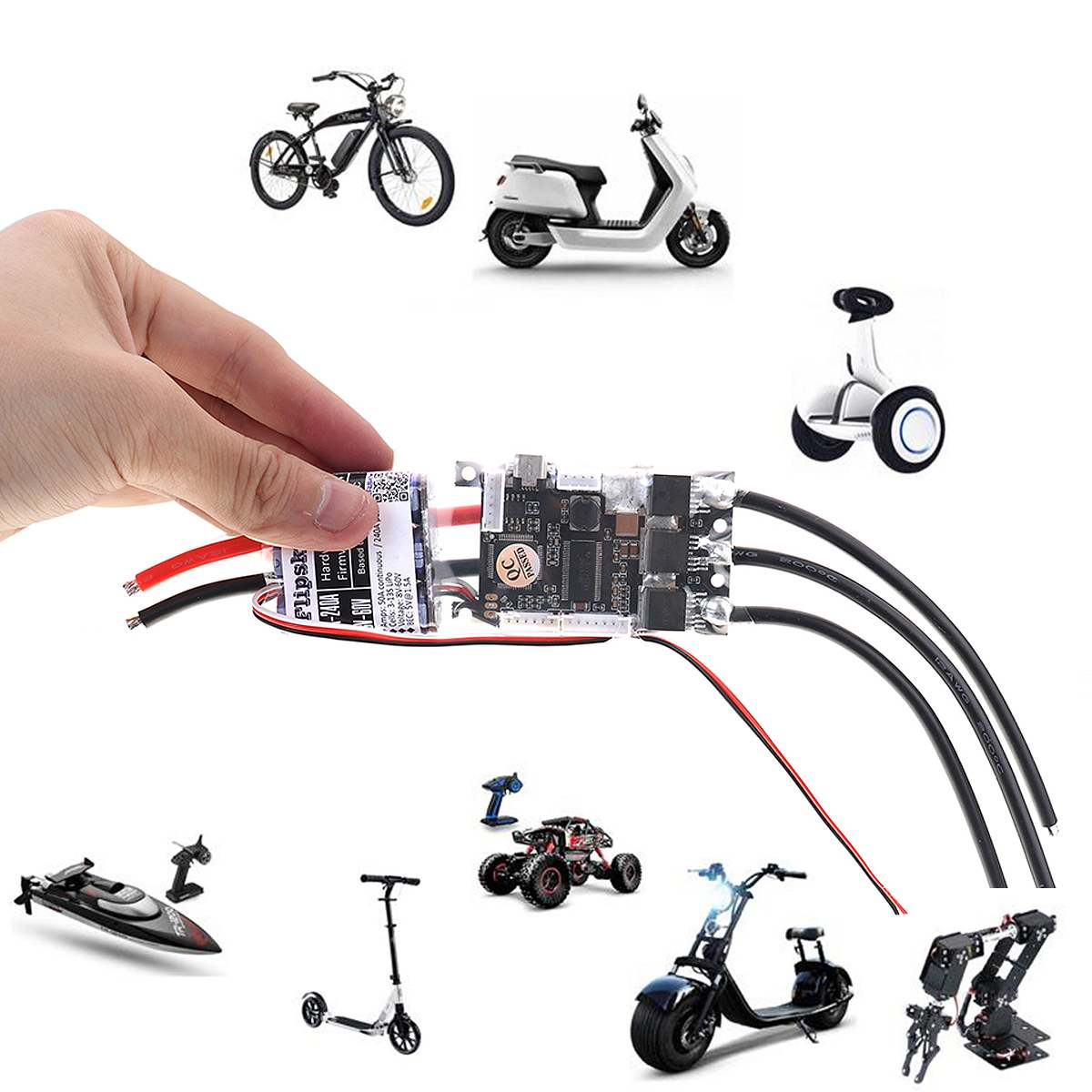 50A ESC Électronique régulateur de vitesse bricolage Planche À Roulettes Pour Skateboard électrique RC Voiture Bateau E-vélo E-scooter Robot