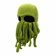 0234cdd4c38 1pc Knitted Face Mask Cute Tentacle Octopus Shaped Windproof Hat Ski Face  Mask Knitted Beanie Cap