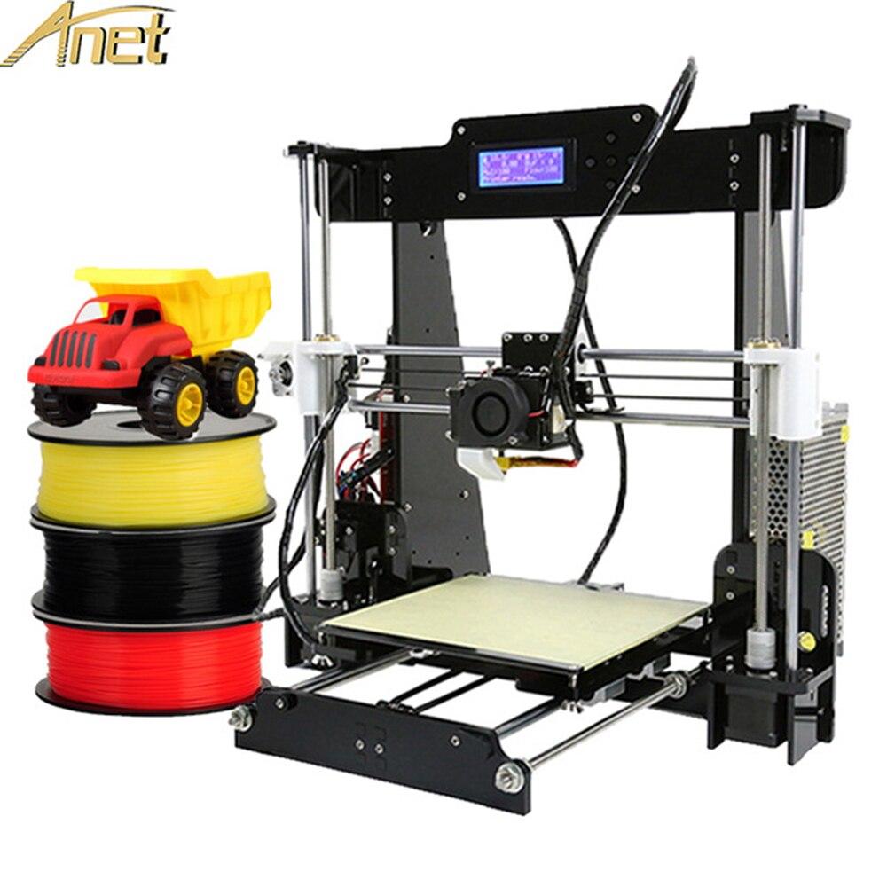 Anet A8 A6 E12 E10 imprimantes 3D mise à niveau automatique nivellement Prusa I3 3D imprimante Kit bricolage gratuit 10 m Filament LCD imprimante 3D avec aluminium