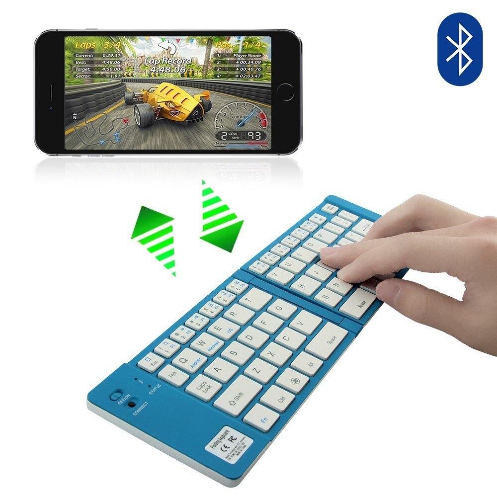 ipad iphone CHYI Portable Folding Bluetooth Keyboard Aluminum Foldable Wireless Travel Mini BT 3.0 Keypad for iphone ipad PC tablet phone (2)