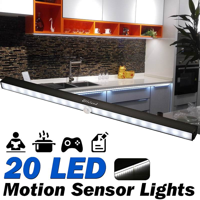 Wireless Dimmable 20 LED Motion Sensor Lights Under ...