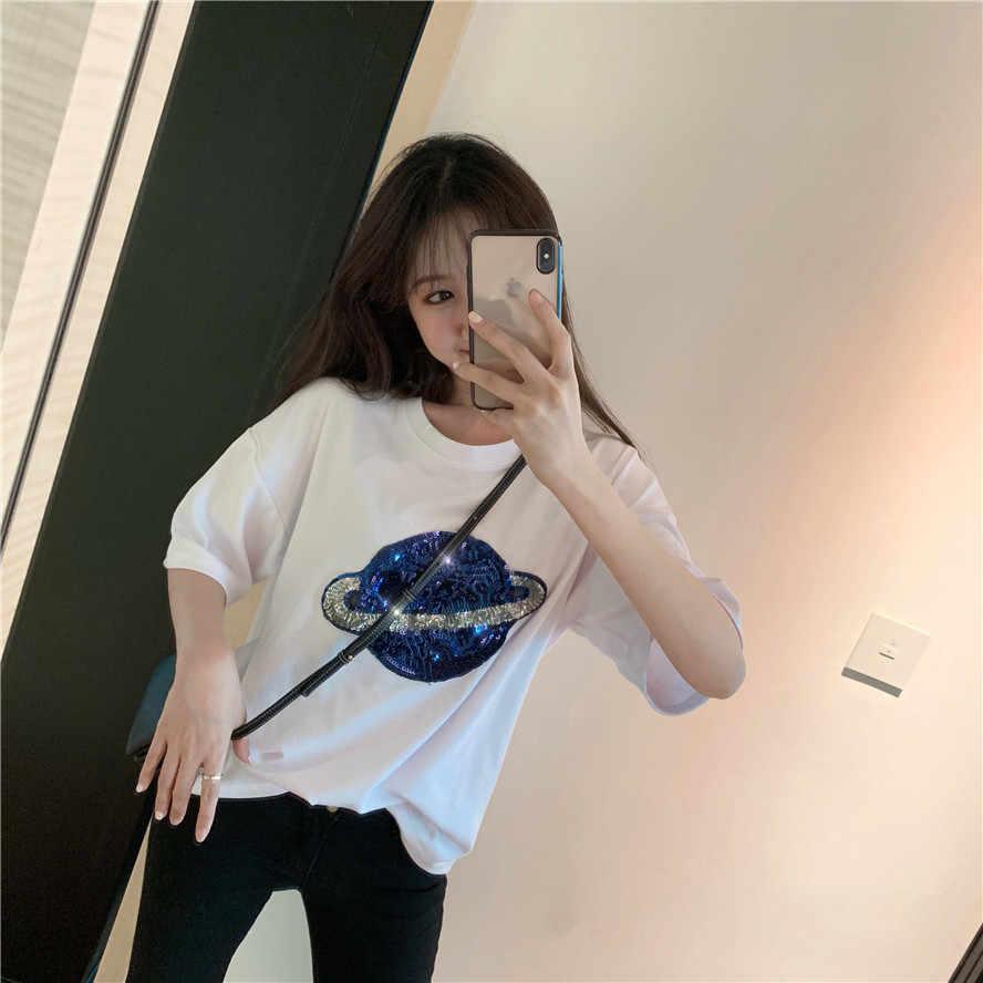 Новая летняя Весенняя женская футболка с вышивкой, Повседневная футболка, женские футболки, хлопковые футболки, Топ с длинным рукавом, женская футболка, джокер