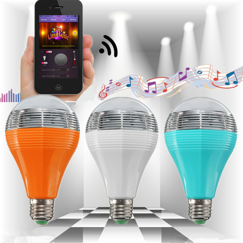 Led Bulbs & Tubes E27/e26 Wifi Control Music Smart Audio Speaker Led Multicolor Bulb Light Lamp Ac 90-264v White Blue Orange Shell Led Bulbs Crease-Resistance