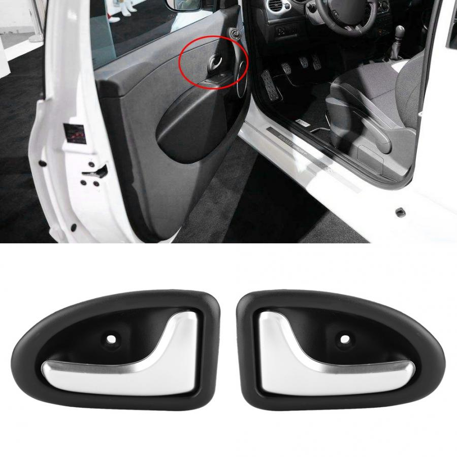 8200915599 Car ABS Chrome Interior Door Handle Cover Trim Bowl Left and Right for RENAULT CLIO SCENIC TRAFIC MEGANE Car styling