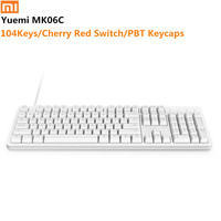 Original XiaoMi Yuemi MK06C 104Keys NKRO Cherry Red Switch USB Wired Mechanical Keyboard PBT Keycaps for Windows/ For mac os