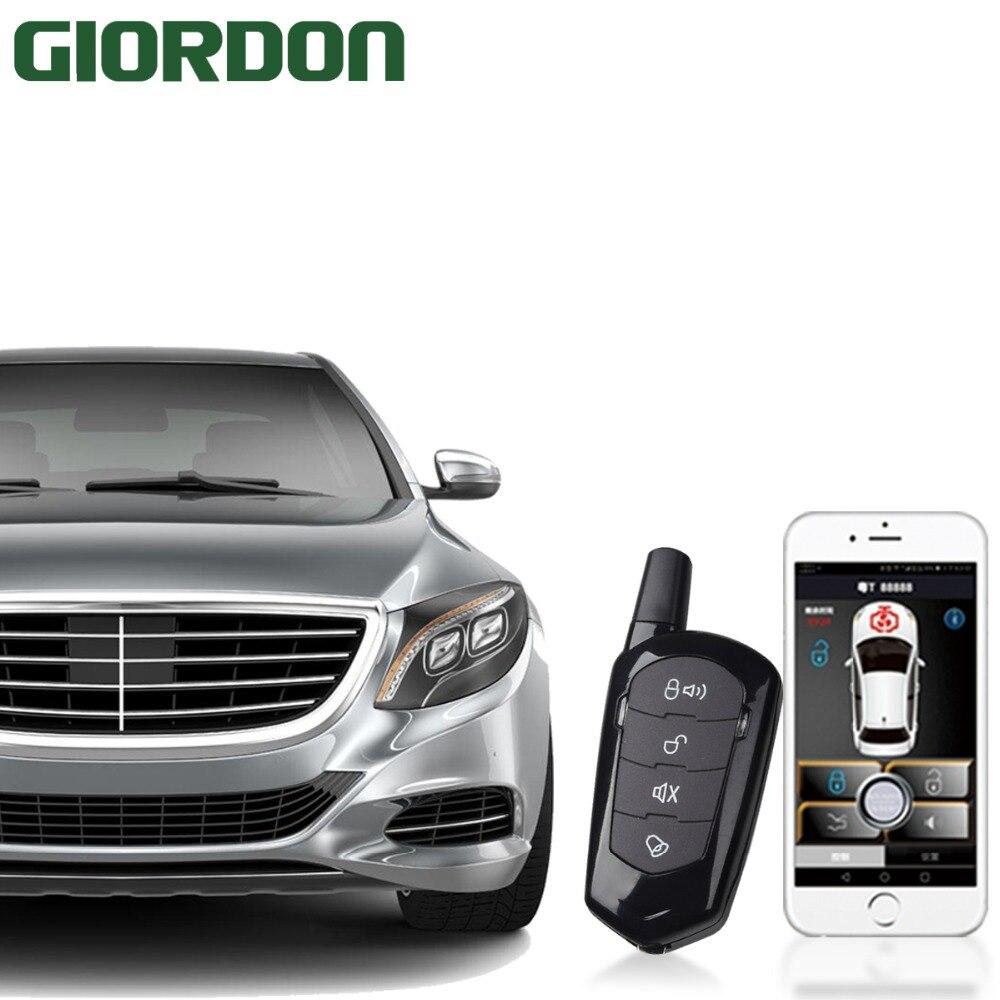 SmartPhone contrôle PKE voiture système d'alarme Kit intelligent passif Auto verrouillage Central voiture porte sans clé bouton poussoir à distance 900A + B