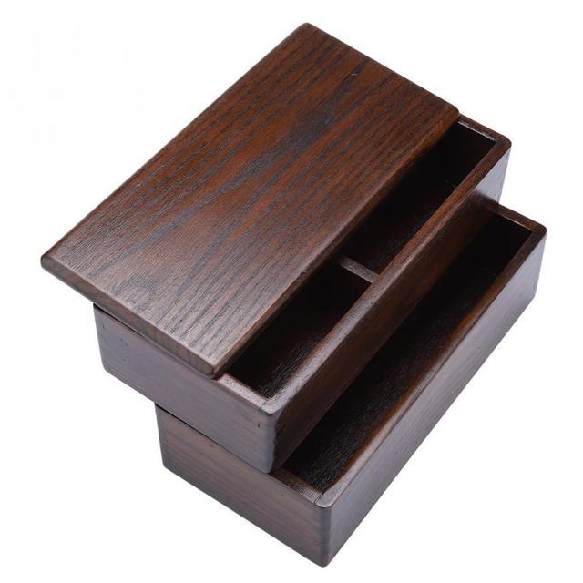 Japanese Wooden Sushi Bento Box