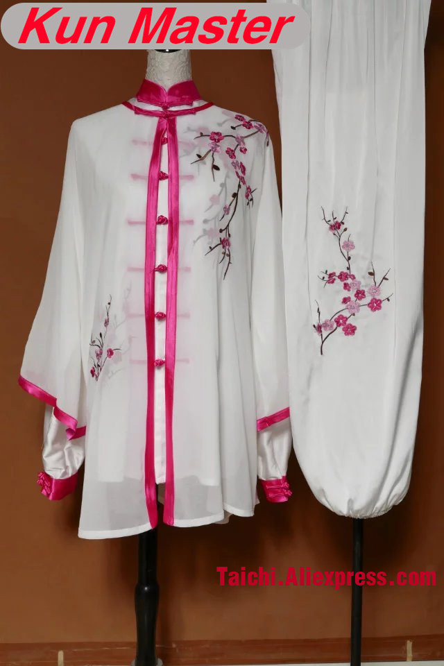 Lady Custom Tai Chi Performance Uniform Plum Blossom Embroidery  Martial Art Kung Fu Clothing Note Height Weight Three Pieces
