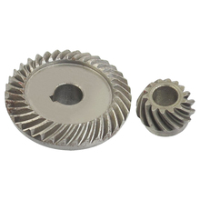 Angle Grinder Spare Part Tapered Bevel Gear Set for LG Silver Metal gray metal 47mmx38mm module 2 22 teeth tapered pilot bore bevel gear wheel