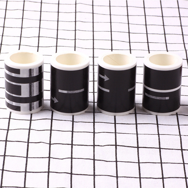 Railway Road Play traffic Washi Tape Sticker Wide Creative Roads Adhesive Masking Tape Scotch Road For Kids Toy Car Train Play 3