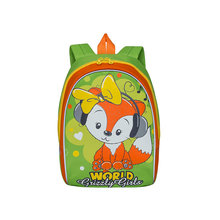 Рюкзак детский Grizzly, салатовый - оранжевый
