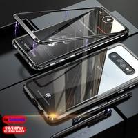Роскошные Магнитная чехол для телефона для samsung Galaxy S10 плюс чехол s S8 Примечание 8 СПС samsung S9 плюс Чехол для samsung Note9 случае примечание 9