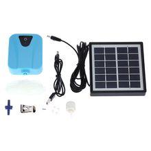 2л/мин на солнечных батареях/DC зарядка кислородный насос для воды аэратор для пруда с 1 воздушным каменным аквариумом воздушный насос