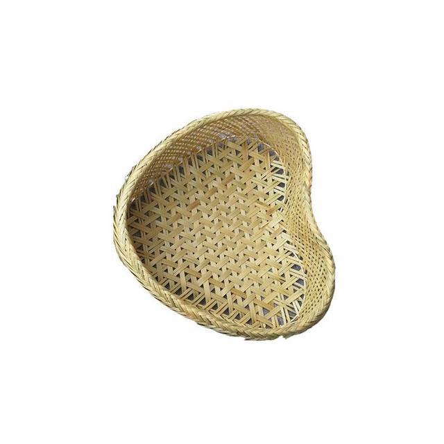 Heart-Shaped Woven Bamboo Basket